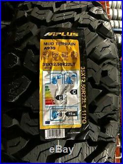 4 APlus A939 MT Tires LT35x12.50R22 35125022 New 10ply Mud Terrain Load Range E