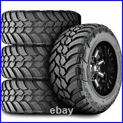 4 New AMP Mud Terrain Attack M/T A LT 33X13.50R24 Load F 12 Ply MT Mud Tires