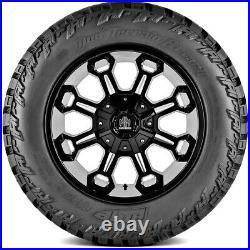 4 New AMP Mud Terrain Attack M/T A LT 33X14.50R22 Load F 12 Ply MT Mud Tires