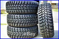4 New Crosswind M/T LT 255/70R16 Load D 8 Ply MT Mud Tires