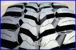 4 New Crosswind M/T LT 33X12.50R15 Load C 6 Ply MT Mud Tires