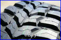 4 New Crosswind M/T LT 33X12.50R22 Load E 10 Ply MT Mud Tires