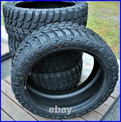 4 New Crosswind M/T LT 37X13.50R22 Load F 12 Ply MT Mud Tires