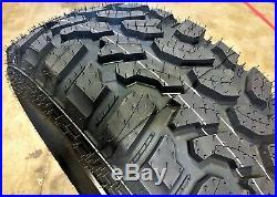 4 New Lanvigator Catchfors M/T LT 37X12.50R17 Load D 8 Ply MT Mud Tires