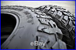 4 New Mastercraft Courser MXT LT 35X12.50R20 Load E 10 Ply M/T Mud Tires