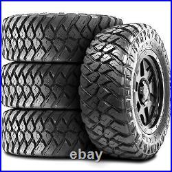 4 New Maxxis Razr MT LT 305/70R17 Load E 10 Ply M/T Mud Tires