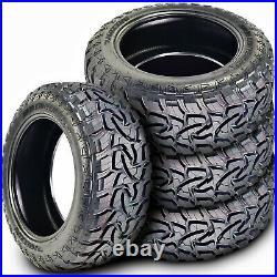 4 New Mazzini Mud Contender LT 285/70R17 Load E 10 Ply MT M/T Mud Tires