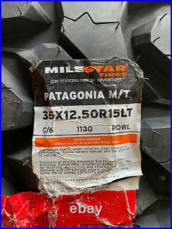 New Milestar Patagonia M/T LT 35X12.50R15 Load C 6 Ply MT Mud Tire